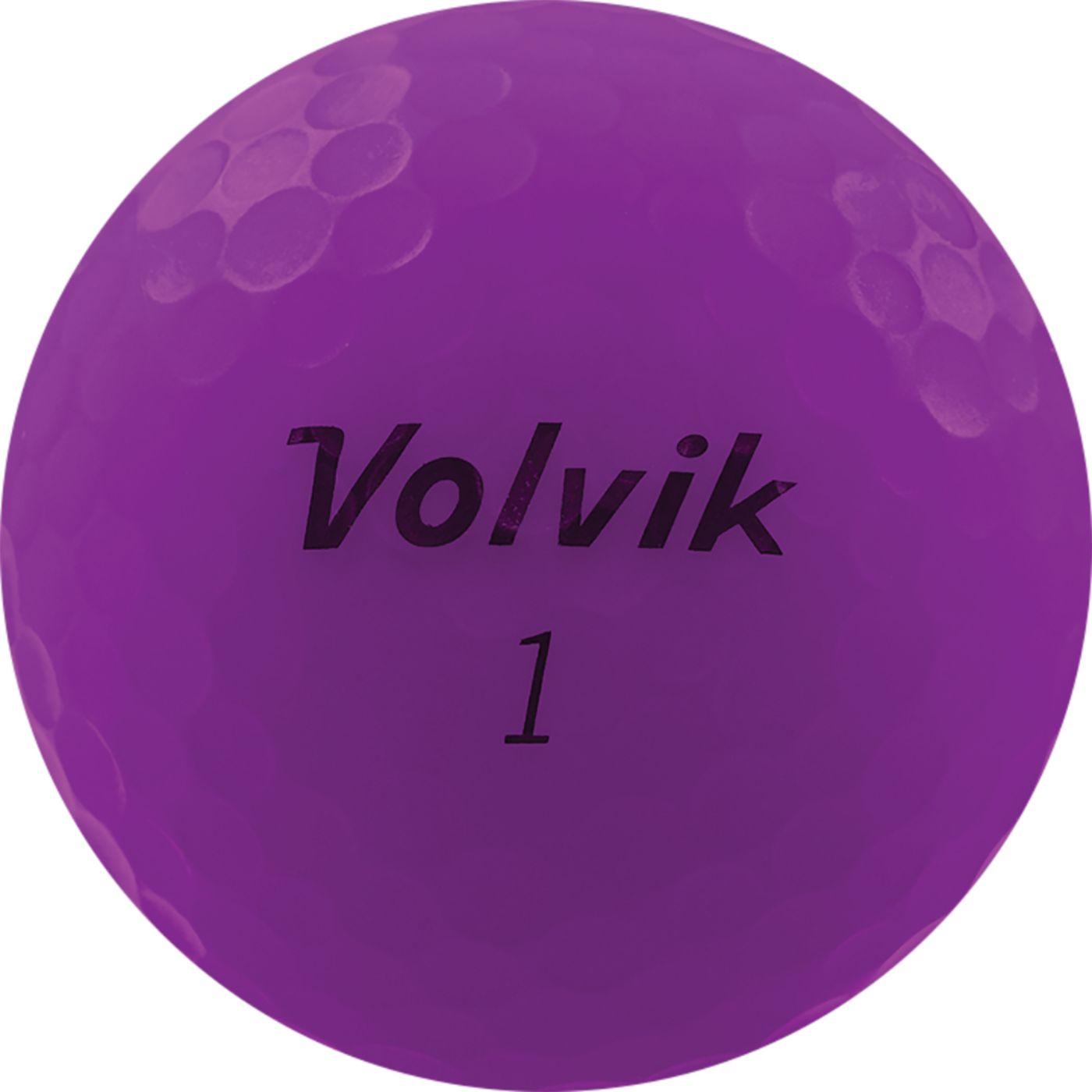 Volvik 2020 VIVID Matte Purple Golf Balls
