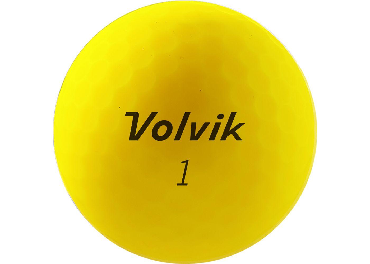 Volvik 2020 VIVID XT AMT Matte Yellow Golf Balls