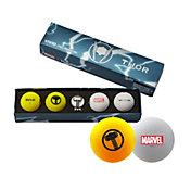 Volvik VIVID Matte Marvel Thor Edition Golf Balls + Hat Clip Set – 4 Pack