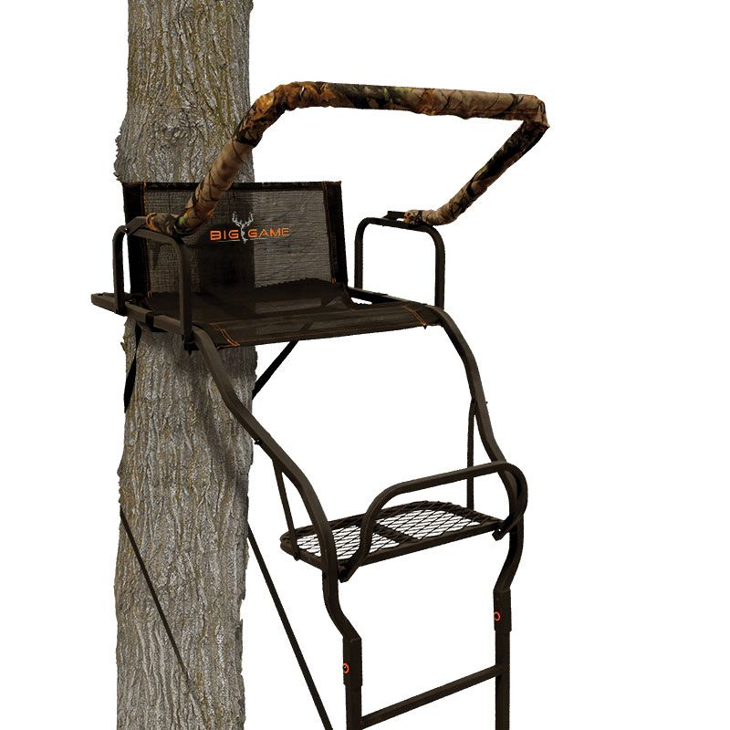 Big Game Treestands Warrior Elite Ultra-Wide Ladder Stand, steel thumbnail