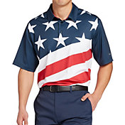 Walter Hagen Men's P11 Americana Diagonal Flag Print Golf Polo