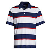 Walter Hagen Men's Perfect 11 Folds Of Honor Rugby Stripe Golf Polo