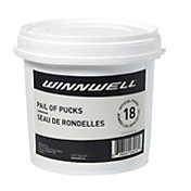 Winnwell Pail of 18 Ice Hockey Pucks