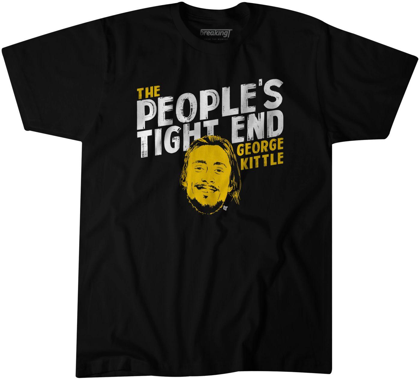 BreakingT Men's People's Tight End George Kittle Black/Gold T-Shirt