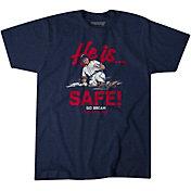 BreakingT Men's 'He is Safe' Sid Bream Navy T-Shirt
