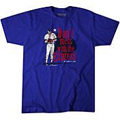 BreakingT Men's 'Don't Mess with the Express' Nolan Ryan Blue T-Shirt