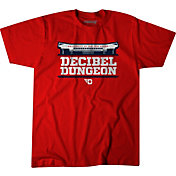 BreakingT Men's Dayton Flyers Red 'Decibel Dungeon' Basketball T-Shirt