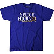 BreakingT Men's 'Yelich & Hiura 2020' Blue T-Shirt