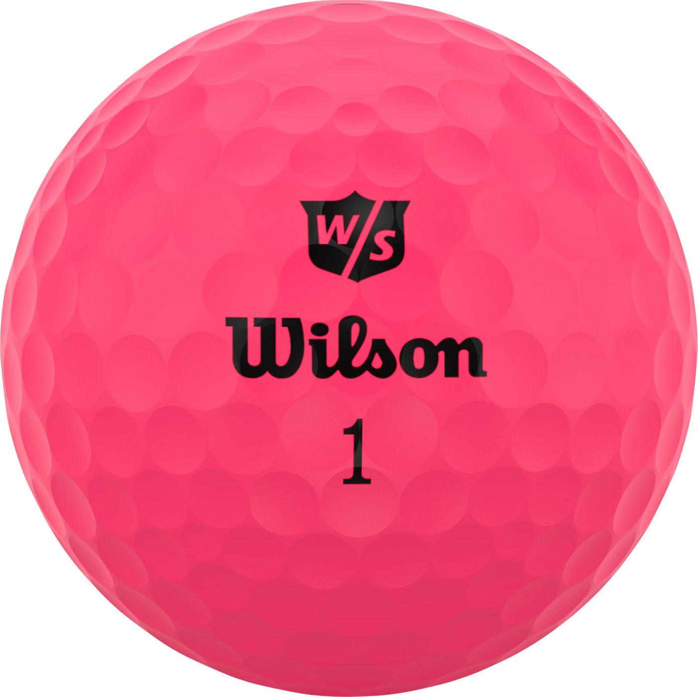 Wilson Staff 2020 Duo Soft Optix Pink Personalized Golf Balls