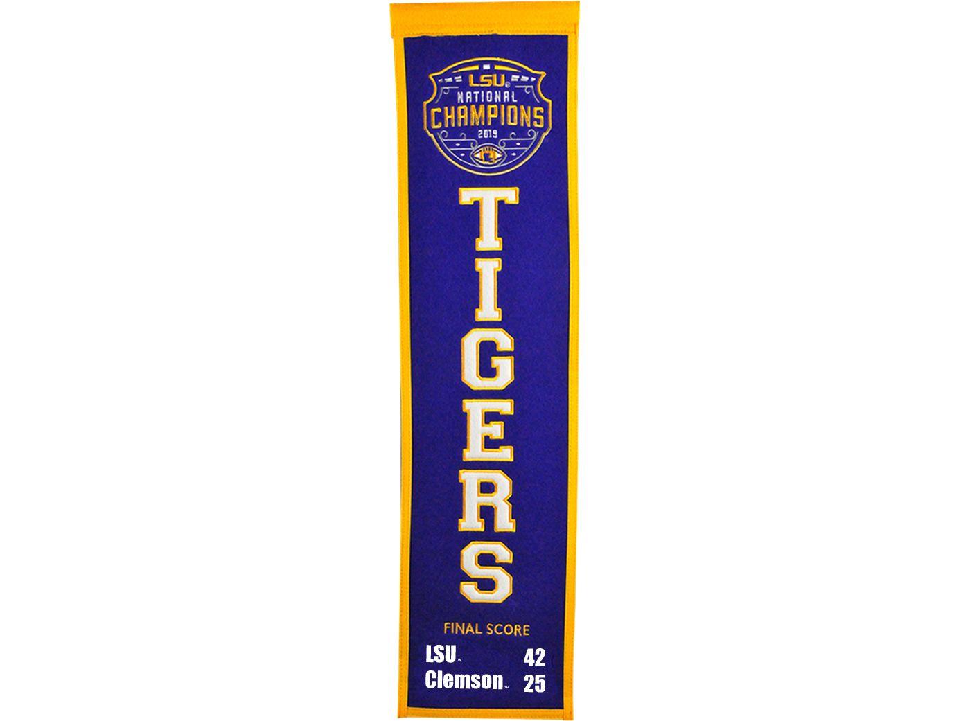 Winning Streak Sports 2019 National Champions LSU Tigers Heritage Banner