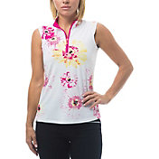 San Soleil Women's Soltekice Sleeveless Print Mock