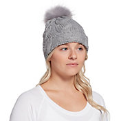 Northeast Outfitters Women's Cozy Cable Knit Fur Pom Beanie