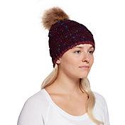 Northeast Outfitters Women's Cozy Nep-Rib Fur Pom Beanie