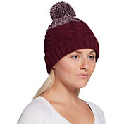 Northeast Outfitters Women's Cozy Two Tone Cable Pom Beanie