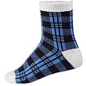 Northeast Outfitters Women's Buffalo Plaid Cozy Cabin Crew Socks
