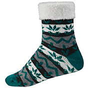 Northeast Outfitters Women's Nordic Stripes Cozy Cabin Cuffed Socks
