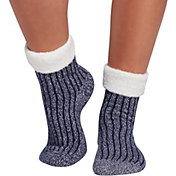Northeast Outfitters Women's Rib Crew Cozy Cabin Cuffed Socks