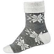 Northeast Outfitters Women's Snowflake Cozy Cabin Cuffed Socks