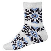 Northeast Outfitters Women's Sparkly Snowflake Cozy Cabin Crew Socks