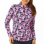 IBKUL Women's Kitty UV Long Sleeve Golf Top