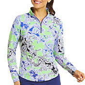IBKUL Women's Pascha UV Long Sleeve Golf Top