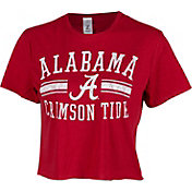 ZooZatz Women's Alabama Crimson Tide Crimson Cropped T-Shirt