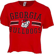 ZooZatz Women's Georgia Bulldogs Red Cropped T-Shirt