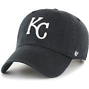 '47 Men's Kansas City Royals Black Clean Up Adjustable Hat