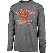 '47 Men's Clemson Tigers Grey Super Rival Long Sleeve T-Shirt