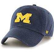'47 Men's Michigan Wolverines Blue Clean Up Adjustable Hat