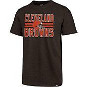 '47 Men's Cleveland Browns Block Stripe Club Brown T-Shirt