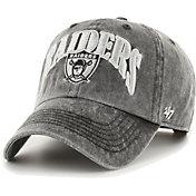 '47 Men's Las Vegas Raiders Black Apollo Throwback Adjustable Hat