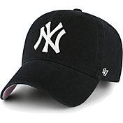 '47 Men's New York Yankees Black Ballpark Clean Up Adjustable Hat