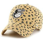 '47 Women's Baltimore Orioles Tan Cheetah Print Clean Up Adjustable Hat