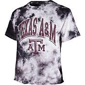 '47 Women's Texas A&M Aggies Black Cropped Tie-Dye T-Shirt