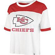 '47 Women's Kansas City Chiefs White Billie Cropped T-Shirt