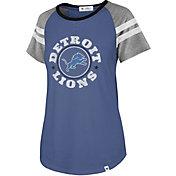 '47 Women's Detroit Lions Static Blue Raglan T-Shirt