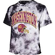 '47 Women's Washington Football Team Tie Dye Tubular Cropped Tie Dye T-Shirt