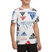 adidas Boys' Brand Love Sketch T-shirt