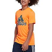 adidas Boys' AEROREADY Shoelace Badge of Sport T-Shirt