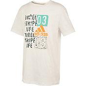 adidas Boys' Three Stripe Life T-Shirt