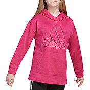 adidas Girls' Badge of Sport Mélange Fleece Hoodie