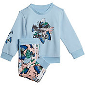 adidas Infant Girls' HER Studio London Animal Flower Print Crew Set