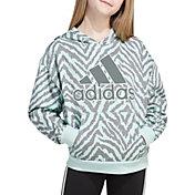 adidas Girls' All Over Fleece Pullover