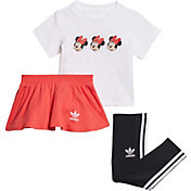 adidas Originals Infant Girls' Mickey and Friends Skirt and T-Shirt Set