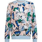 adidas Girls' HER Studio London Animal Flower Print Crew Sweatshirt