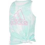 adidas Girls' Print Tie Front Tank Top
