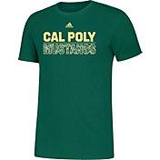 adidas Men's Cal Poly Mustangs Green Amplifier T-Shirt