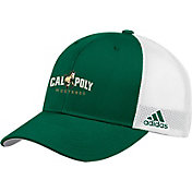 adidas Men's Cal Poly Mustangs Green Adjustable Trucker Hat