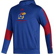 adidas Men's Kansas Jayhawks Blue Pullover Hoodie